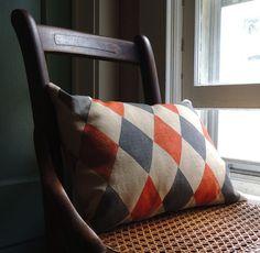 teen room pillow diamond pattern fabric