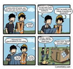 When I thoroughly follow the requirements | CommitStrip - Blog relating the daily life of web agencies developers