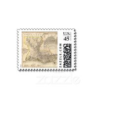 Louisiana 5 postage stamps from Zazzle.com