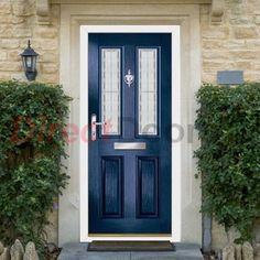 Lifestyle Image of Exterior Simplicity Clifton Verdi Composite Door, shown in Blue