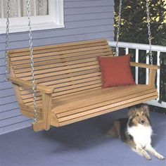 Buy Woodworking Project Paper Plan to Build Porch Swing at Woodcraft.com