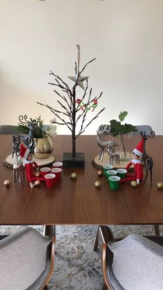 Elves playing games with mini cups and ornaments. Christmas Apps, Christmas Time, Holiday, Playing Games, Shelf Ideas, Christmas Traditions, Craft Tutorials, Elf On The Shelf, Cups