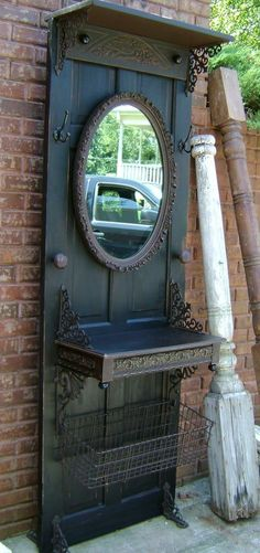Image detail for -is making these from old wood doors the basket at the bottom just ...