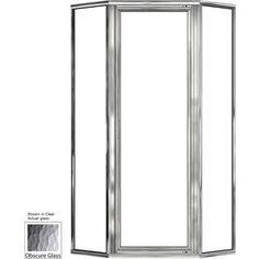 Basco 48.5-In W X 68-5/8-In H Silver Neo-Angle Shower Door 160Rl