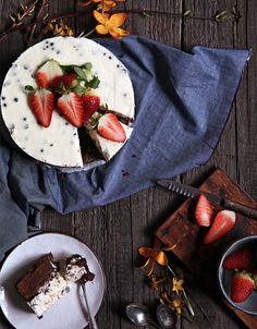 Brownie Cheesecake s Dvomi Druhmi Čokolády Sweet Bar, Cheesecake Brownies, Cheesecakes, Chips, Bread, Baking, Recipes, Food, Therapy