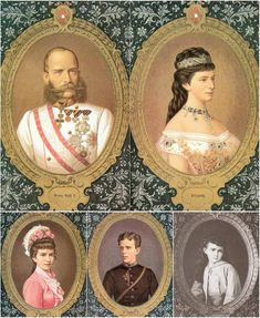 Emperor Franz Josef, Empress Elizabeth and children, Gisela, Rudolph, Marie Valerie