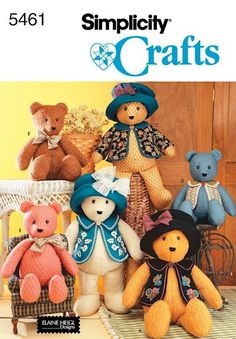 Memory Bear made from clothes of a loved one or childrens old pajamas with Simplicity 5461 bear pattern