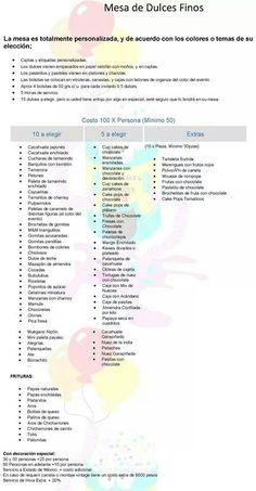Organización de mesas, mesas dulces, organización de eventos, etc