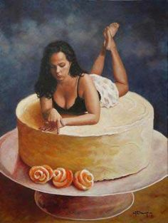 Galina Dargery, beauty and body image - Figurative Artist Food Painting, Figure Painting, Body Image, Figurative, Food Art, Relationships, Artist, Beauty, Dating