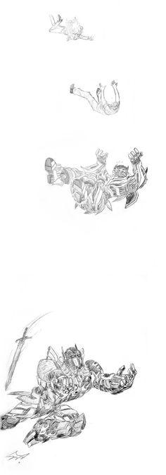 Sideswipe VS Sideways sketch by Colza666 on DeviantArt | how to draw ...