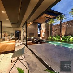 Lets all take a minute to admire this property 😍 I WILL have a house like this. Claim it. Speak it into existence 💸 Cr: Modern Architecture House, Beautiful Architecture, Architecture Design, Dream Home Design, Modern House Design, Small Modern Home, Backyard Pool Designs, Sims House, Pool Houses