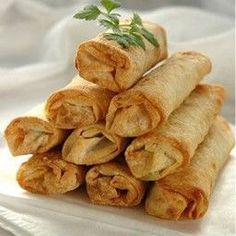 Appetizer - Healthy Vegetable Spring Rolls in an Air Fryer