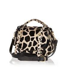 Brown animal print pony hair satchel £60.00
