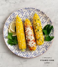 Corn on the Cob 3 Ways