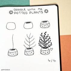 Doodle Art For Beginners, Easy Doodle Art, Doodle Drawings, Easy Drawings, Flower Drawings, Banner Doodle, Doodle Paint, Bujo Doodles, Bible Doodling