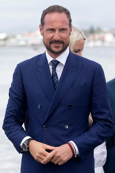 Crown Prince Haakon of Norway, on a visit to Stavanger, during the King and Queen of Norway's Silver Jubilee Tour, on June 27, 2016 in Stavanger, Norway.