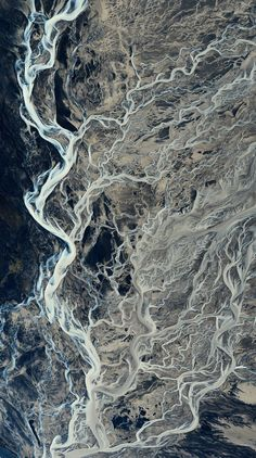 the dance //aerial photograph of Iceland, by Andre Ermolaev