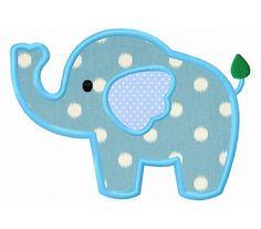 Elephant applique machine embroidery design by WendysStitch, $1.39