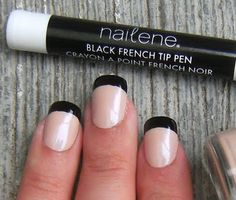 I've always wanted to try a french manicure with black tips
