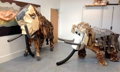 Our Stone Age Mammoths Monty and Margaret.                                                                                                                                                                                 More