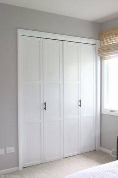 Merveilleux Add Inexpensive Lattice To Bifold Doors, Paint Them, And Change The  Hardware For A