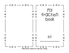 Fraction Book - Blank. Teachers Pay Teachers. Students create based on vocabulary. FREEBIE