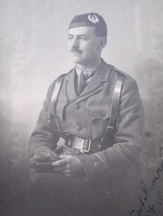 2nd lieutenant of the Cameronians WWI.