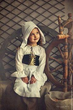 """Купить Костюм """"Золушка"""" - комбинированный, костюм для девочки, костюм для фотосессии, карнавальный костюм, однотонный, лён"""