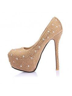 Rhinestoned Bridal High Heels