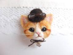 スチームパンク風 猫☆羊毛フェルト ハンドメイド 猫 - ヤフオク!                              …