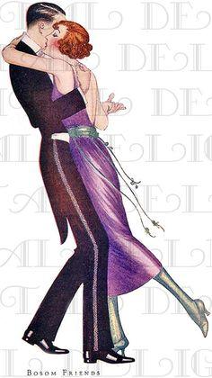DANCING  In The 1920s. Art Deco FLAPPER. Vintage illustration. DECO Digital Download. on Etsy, $1.99