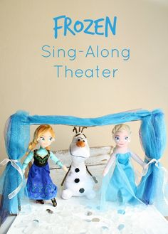 FROZEN Sing-Along Theater~Make your own puppet theater to sing-along with your favorite Frozen songs.
