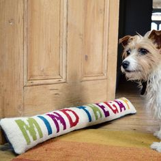 Keep out the cold with this colourful, humourous draught excluder. Easy to make with quick supersized half cross stitch.