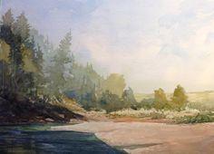 Watercolor Landscape, Rocky Mountains, Art Studios, Scenery, Fine Art, Drawings, Artist, Painting, Image