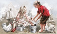 Children painted by MM Oosthuizen (Maria Art) Art Gallery, Amazing Art, Children Illustration, Art, Maria, Maria Magdalena, Art Pictures, Online Art Gallery, Pictures To Paint