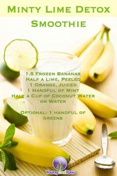 #mint #lime #smoothie #detox #recipe #raw #vegan #rawvegan #801010 #HCRV