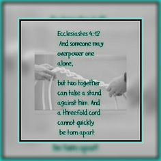 Nothing can break a couple who have built their entire relationship centered around Jehovah God & his ways.