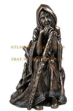 "Tripe Goddess Magical Crone Figurine Paganism Witch Statue Wicca Decor 6.25""H"