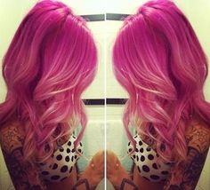 Pink and blonde ombré, love!