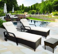 Miadomodo Poly rattan Sun Lounger Indoor Outdoor Garden Sofa Day