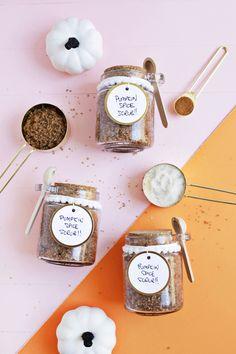 Treat your skin to an amazing body scrub with this pumpkin spice sugar scrub DIY!