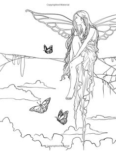 Fairy Art Coloring Book (Fantasy Art Coloring by Selina) (Volume Selina… Mermaid Coloring Pages, Adult Coloring Book Pages, Coloring Pages To Print, Free Coloring Pages, Coloring Books, Fairy Tattoo Designs, Fairy Art, Colorful Pictures, Fantasy Art