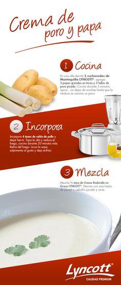 Crema de poro y papa. #receta #comida #crema #poro #papa