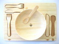 Funfam vajillas infantiles en bambú, vajillas bonitas en materiales naturales para bebés y niños de Funfam > Minimoda.es