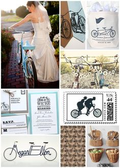 Love the name combo in the bottom left! http://www.loveandlobster.com/2011/eye-candy/wedding-inspiration-lets-go-ride-a-bike/