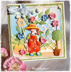 Meine kleine Bastelwelt: Eine kleine Sommerkarte . .