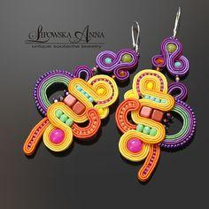 730 Kolczyki sutasz Soutache Jewelry, Jewellery Earrings, Rope Jewelry, Anna, Unique, Bracelets, Instagram, Bracelet, Arm Bracelets
