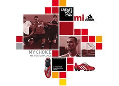 Retail experts I-AM created a brand language, brand communication strategy & in-store customer experience for footwear customisation service Mi Adidas. Poster Design Layout, Typography Poster Design, Flyer Layout, Print Layout, Brochure Design, Branding Design, Store Design, Web Design, Sports Graphic Design