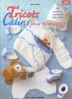 Receita Tricô Fácil   Tricots Câlins pour tout-petits-   Revista Trico Bebês em Francês   50 modelos com receita e gráficos em tricô comp...