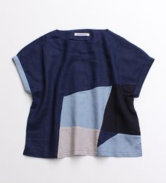 pieced woven or knit top